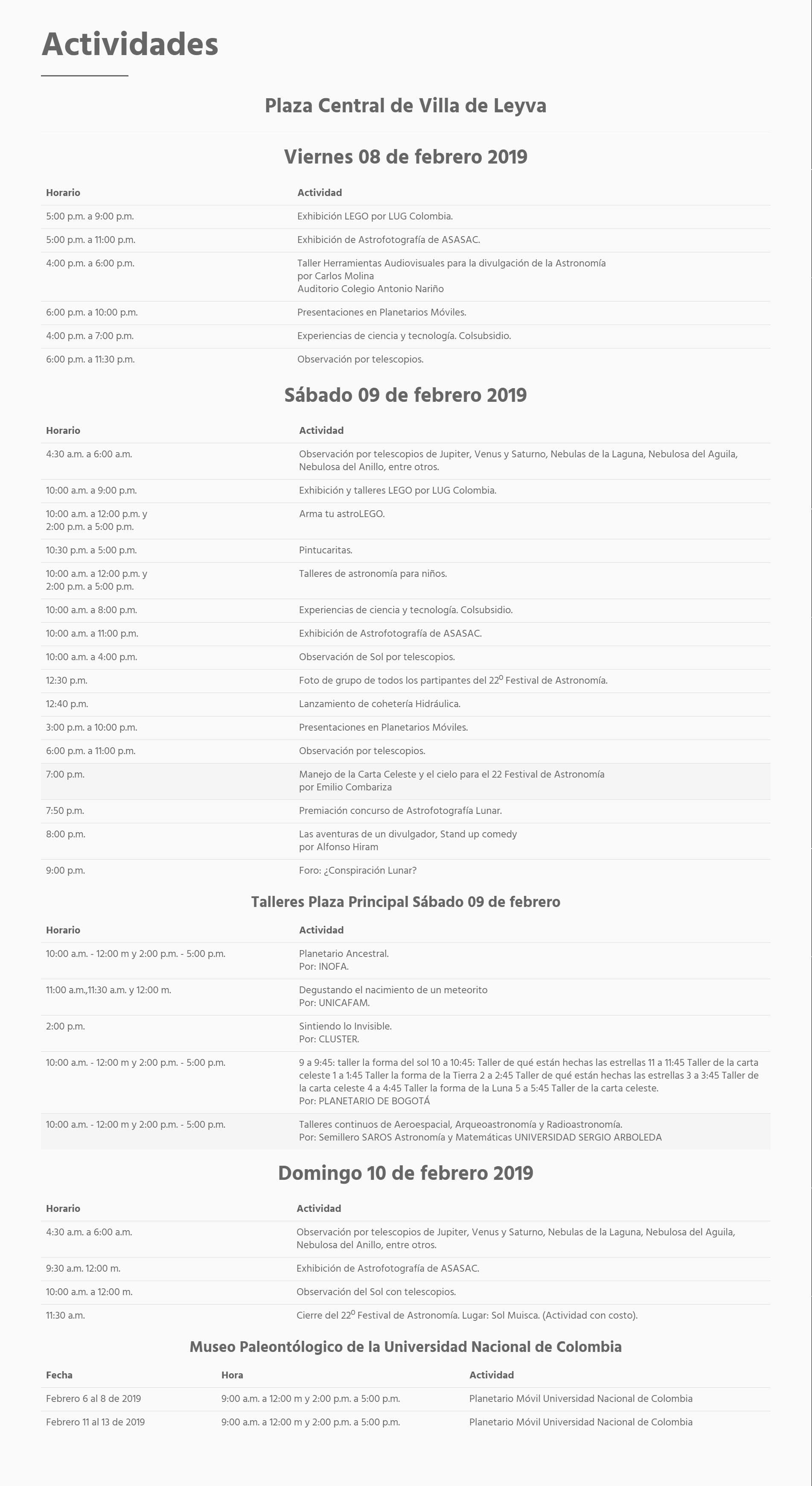 programacion festival astronomia villa de leyva 20