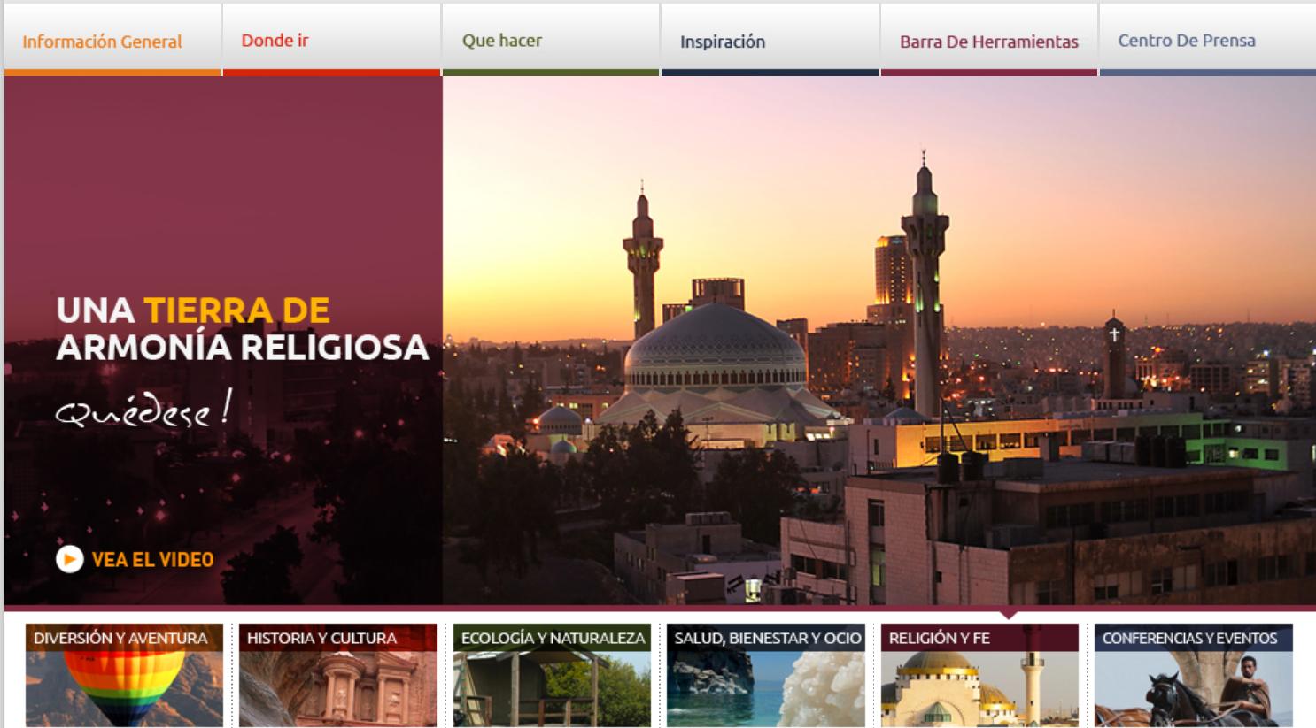 pagina web turistica jordania