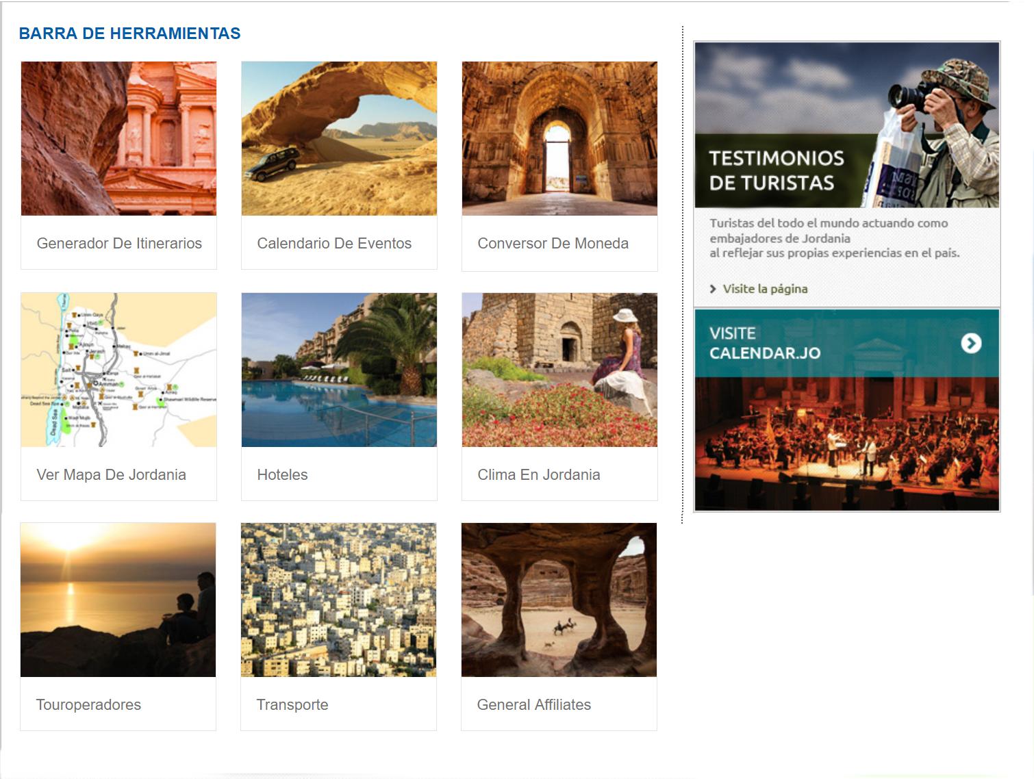 pagina web turismo jordania