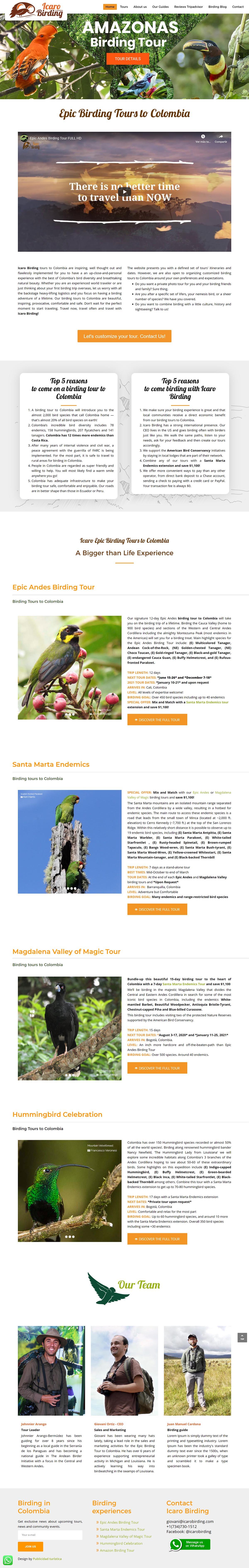 sitios web de turismo en colombia
